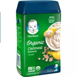 Gerber Organic Banana Baby Cereal – 8oz (227 gr)