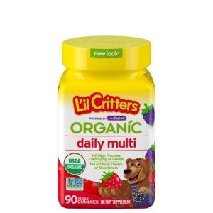 L'il Critters Organic Daily/Complete Multivitamin Gummies for Kids, 90 Count – Non-GMO, Gluten-Free, No Gelatin, No HFCS