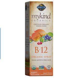Garden of Life B12 Vitamin – mykind Organic Whole Food B-12 for Metabolism and Energy, Raspberry, 2oz Liquid