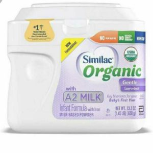 Similac Organic with A2 Milk Infant Formula, Gentle and Easy to Digest, with Key Nutrients for Baby's First Year, No Palm Olein Oil, Non-GMO Baby Formula Powder, (658 gr)