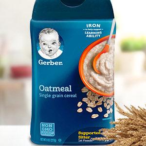 Gerber Single-Grain Oatmeal Baby Cereal, 8 Ounce (227 gr.)