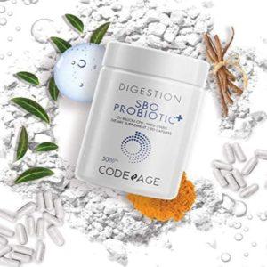 Codeage SBO Probiotics, 50 Billion CFUs Per Serving, Multi Strain Soil Based Organisms Blend and Organic Fermented Botanical Blend, Shelf-Stable, 90 Capsules