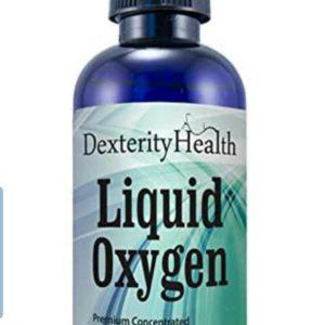 Dexterity Health Liquid Oxygen Drops 4 oz. Dropper-Top Bottle, Vegan, All-Natural and 100% Sterile, Proprietary Blend of Oxygen-Rich Compounds, Stabilized Liquid Oxygen Drops