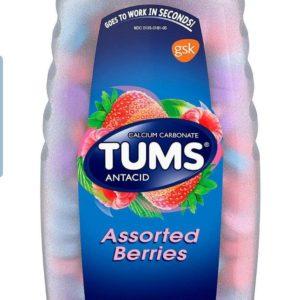Tums Ultra 1000 Maximum Strength Antacid & Calcium Supplement, Assorted Fruit (265 tablet)